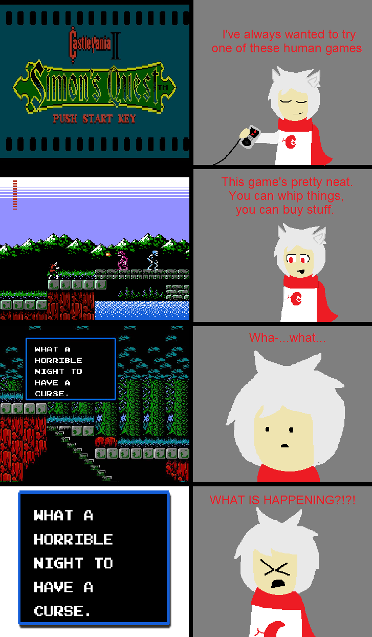Castlevania 2 is a scary...